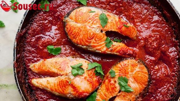Рыба в соусе из помидор
