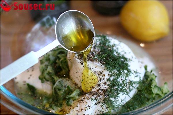 Дзадзики с лимонным соком