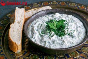 Соус Цацики с мятой для хлеба