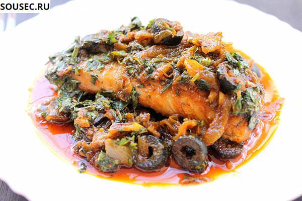 рыба под соусом гарум