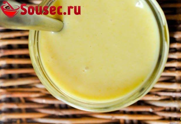 Майонез из сметаны с медом