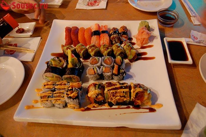 Суши с соусом унаги