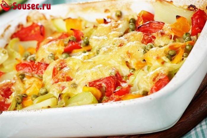 Овощи с картофельным соусом