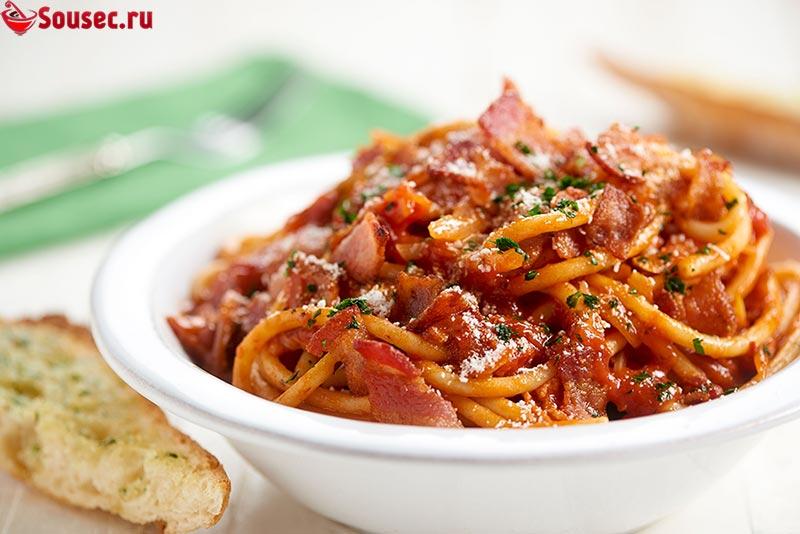Спагетти с соусом Аматричана