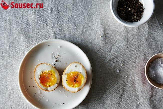 Вареные желтки для яичного соуса винегрет
