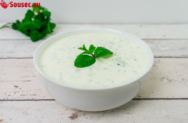 Соус для долмы из йогурта
