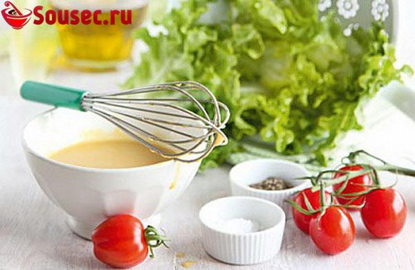 Французская заправка для салата с креветками