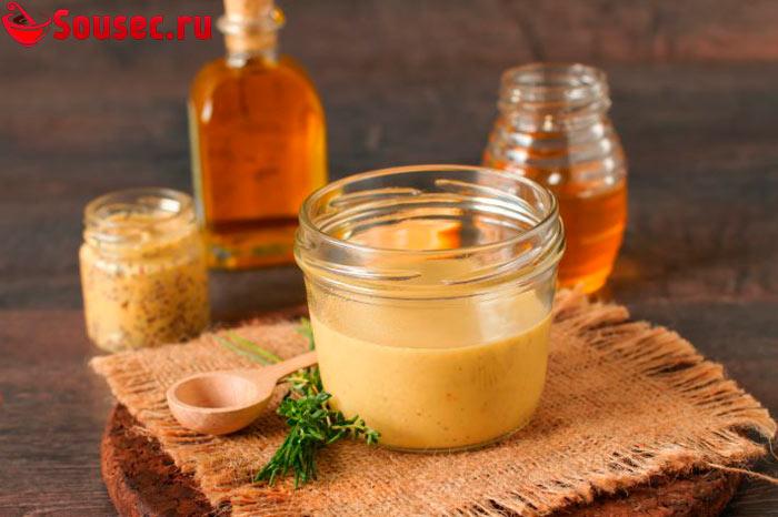 Мед и горчица для соуса к утке