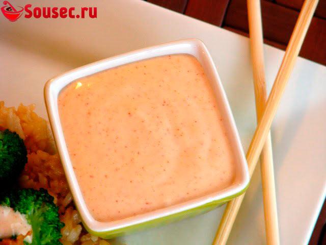 розовый соус для роллов рецепт