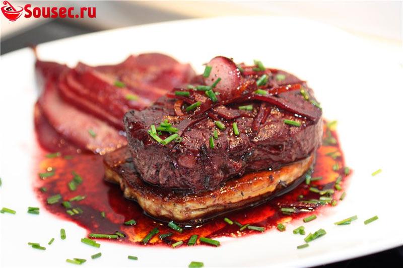 Мясо с соусом Порто