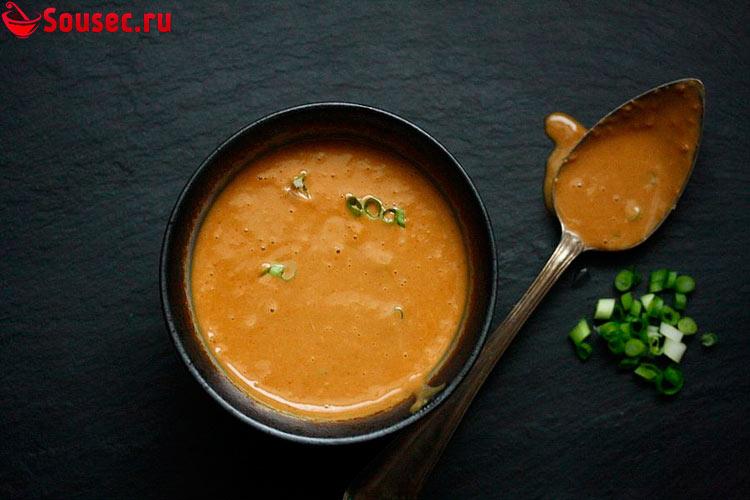 Арахисовый соус к курице с луком