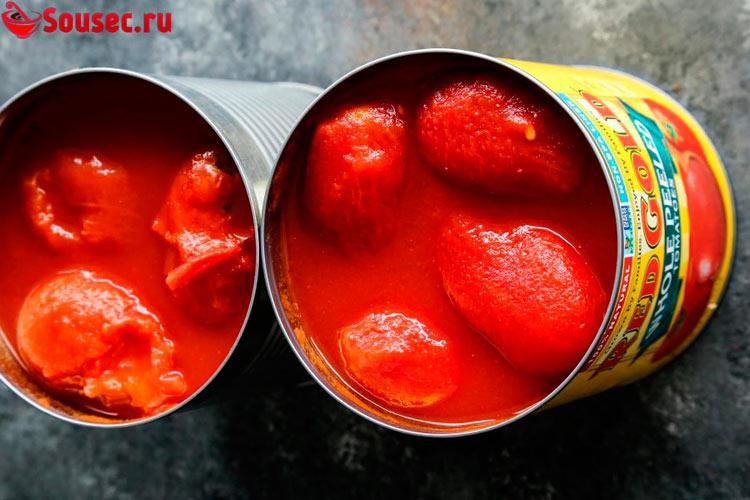 Консервированные помидоры для приготовления соуса для пиццы
