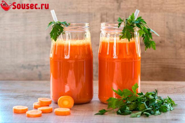 Сок моркови для приготовления соуса