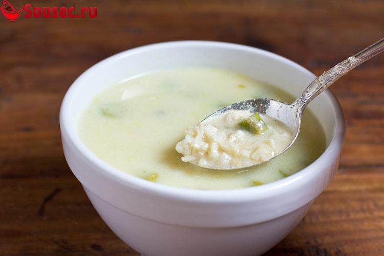 Суп Авголемоно с рисом