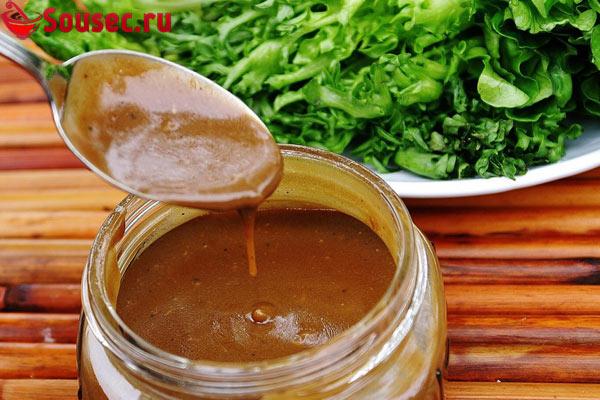 Коричневый соус для салата