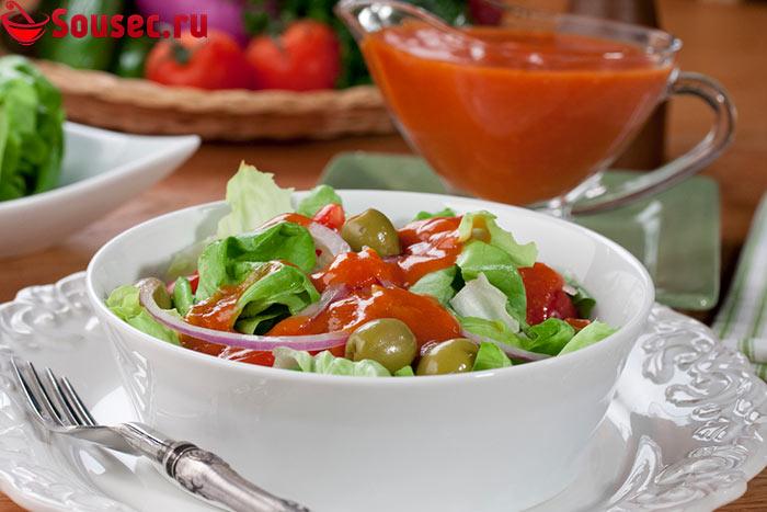Французская заправка для овощного салата
