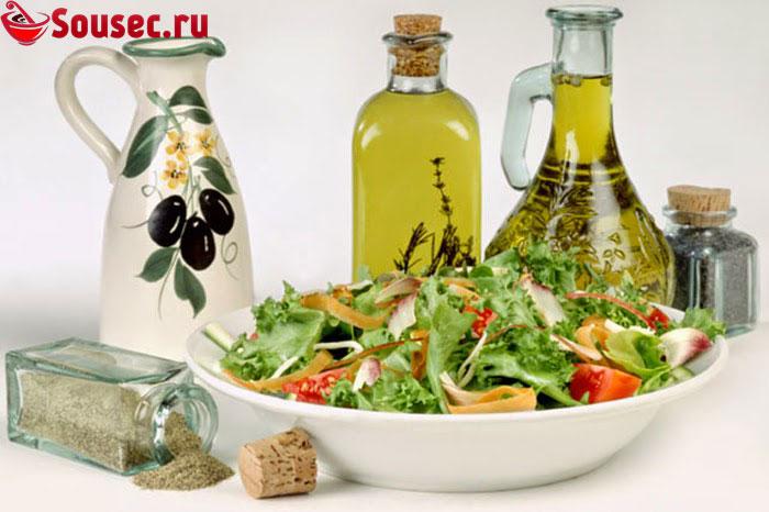 Заправки для овощных салатов