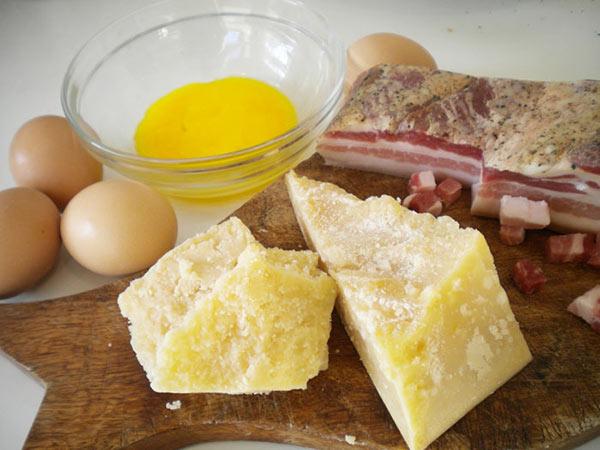 Ингредиенты для соуса карбонара