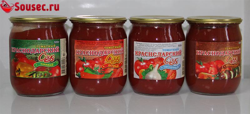 Виды магазинного краснодарского соуса