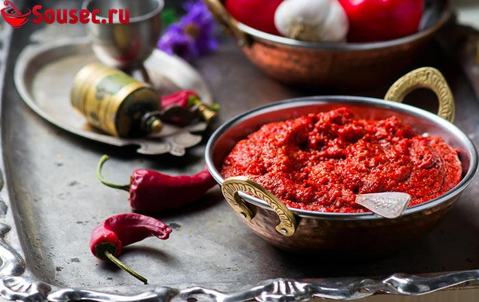 Домашний соус на основе болгарского перца