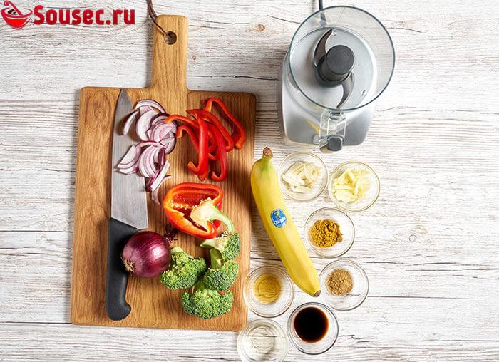 Ингредиенты для бананового соуса