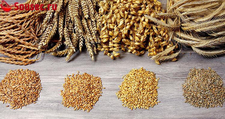Зерновые в составе соевого соуса