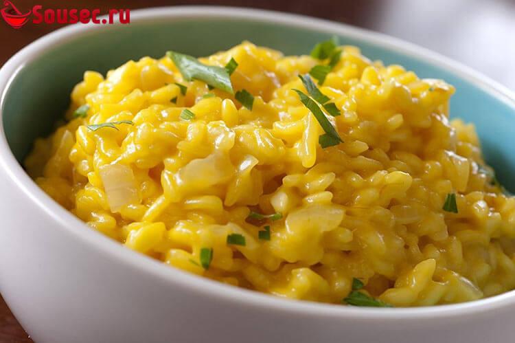 Сырно-сливочный соус с рисом