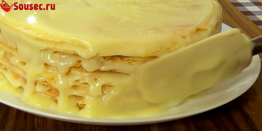 Торт наполеон с кремом