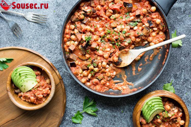 Фасоль в томатном соусе - салат