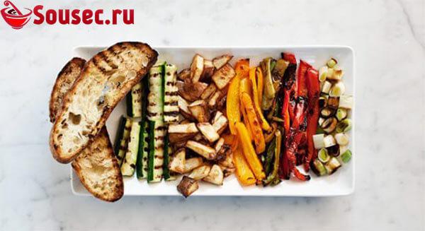 Овощи после гриля - фото