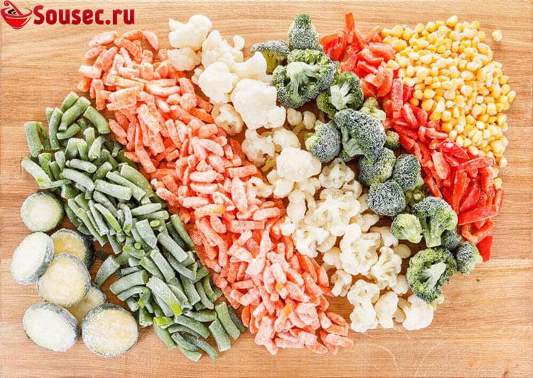 Замороженные овощи для соуса