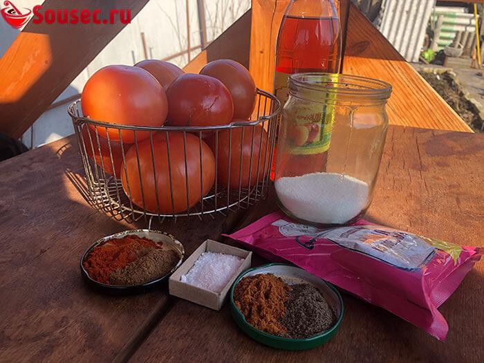 """Ингредиенты для приготовления кетчупа """"Шашлычного"""""""