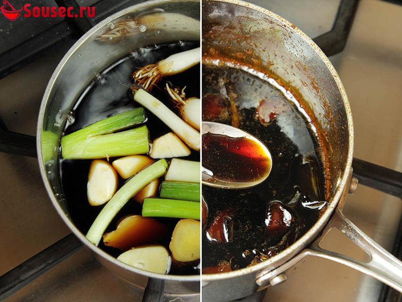 Приготовление домашнего соуса Якитори