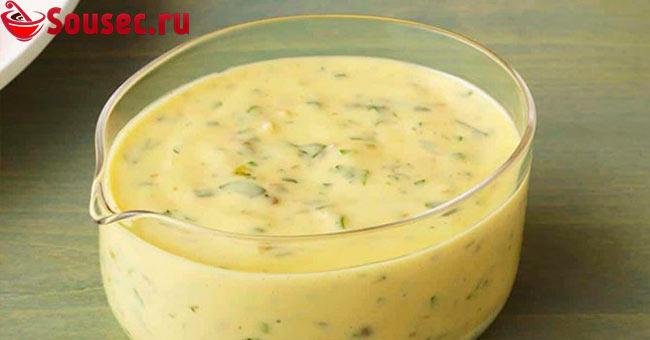 Белый соус с рассолом