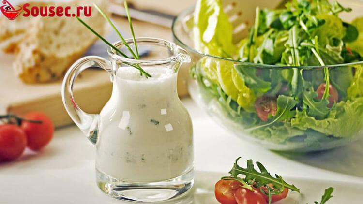 Диетический соус с йогуртом и чесноком