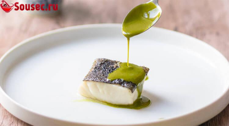 Рыба под соусом Берблан с эстрагоном