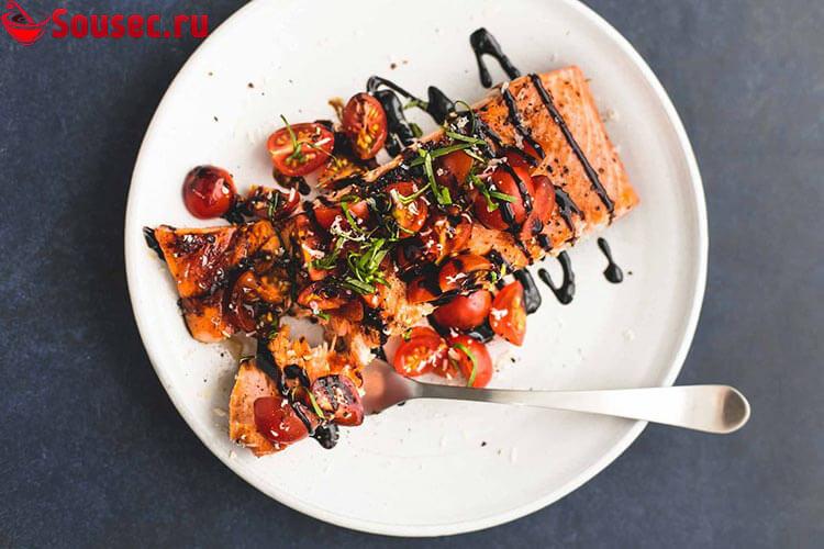 Рыба с бальзамическим соусом