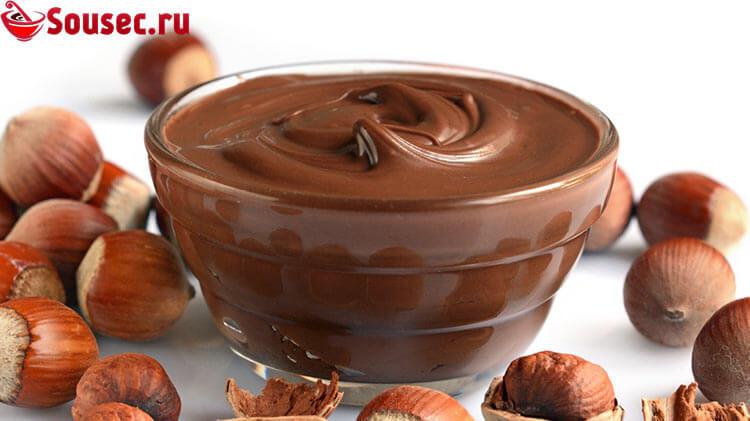Шоколадно-ореховая паста из фундука