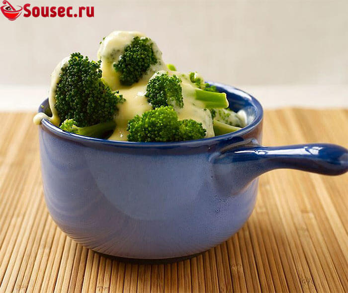 Сырный соус для брокколи