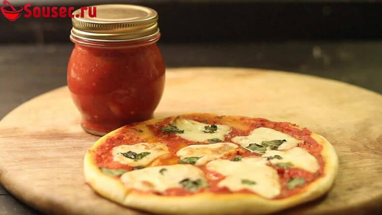 Острый томатный соус для пиццы на зиму
