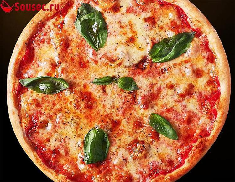 Пицца Маргарита с соусом Пилати