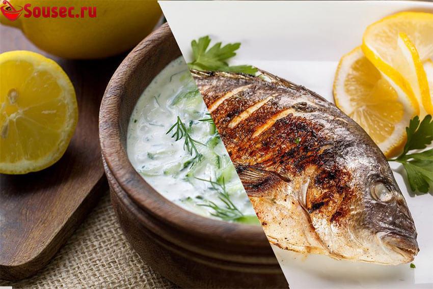 Сметанный соус к жареной рыбе