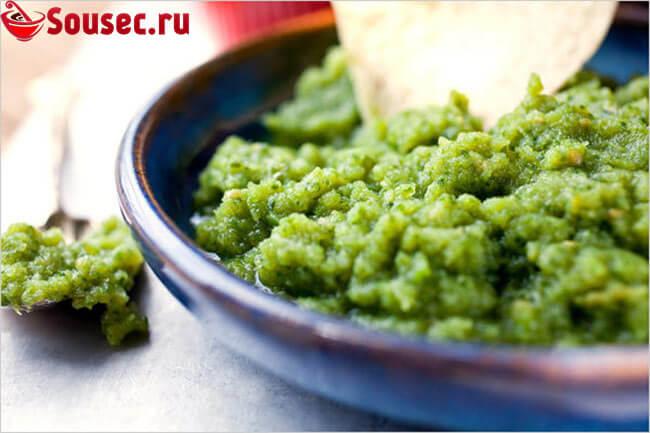 Соус из зеленых помидоров