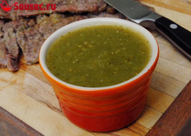 Зеленый маринад для мяса